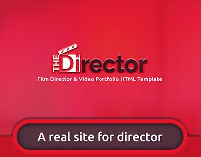 The Director – Film Director & Video Portfolio PSD Temp