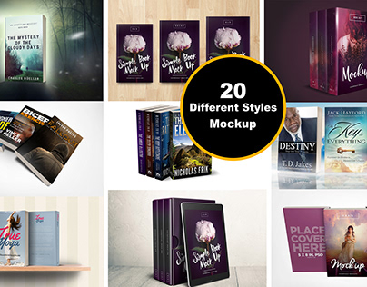 I will Create Amazing Different Style Book Cover Mockup