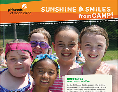 Spring Newsletter for Girls Scouts of Rhode Island