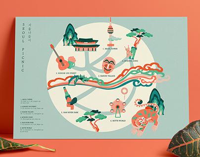 Korea tourist map
