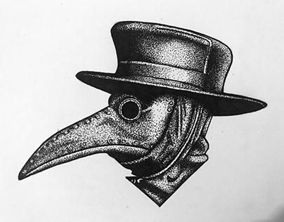 Máscara do médico na peste