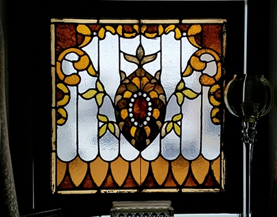 Antique Leaded panel Restoration 3