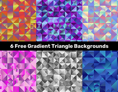 6 Free Gradient Triangle Backgrounds