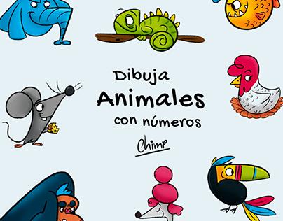 Dibuja Animales con números