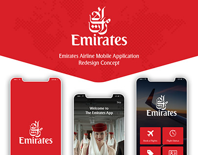 Emirates Airline Mobile App Redesign Concept