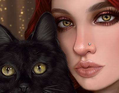 Witch & Black Cat
