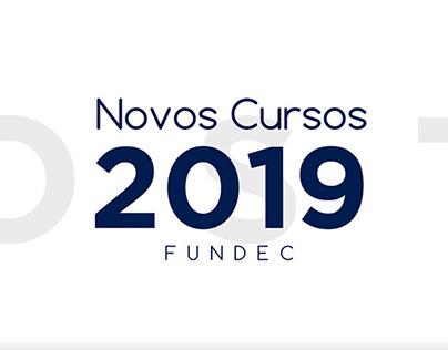 Novos Cursos 2019 - Fundec