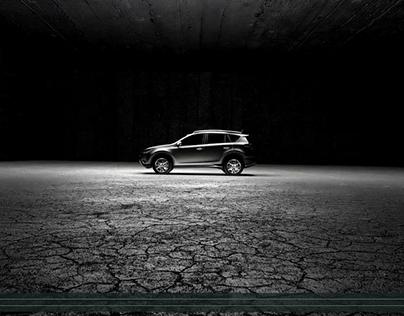 Toyoata Rav4 - lights in motion | CGI
