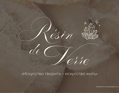 """logo """"Resin de Verre"""""""