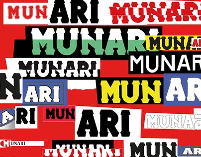 Tribute to Munari: poster design