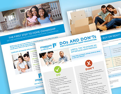 Stonegate Mortgage Marketing Flyers