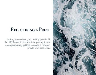 Recoloring a Print for Garment Development