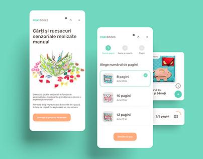 Mukibooks - Website design