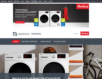 Amica page layout
