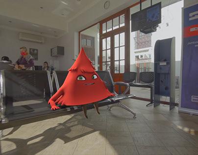 Publicidad con personajes 3D para Cintepa