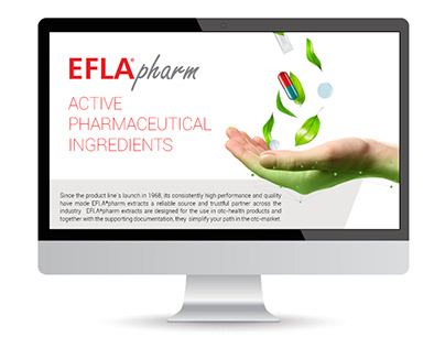 EFLA®pharm - Landing page design