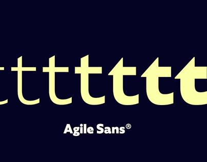 Agile Sans font family