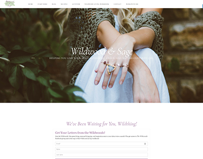 Wildwood & Sage Blog Design & Development
