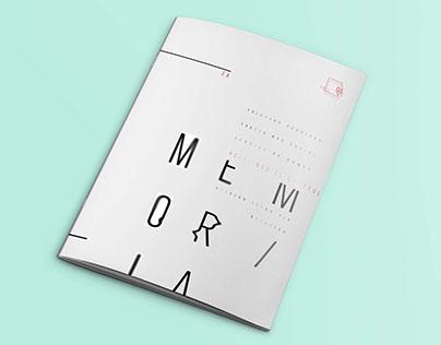 Desplegable tipográfico | MEMORIA