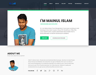 Personal Portfolio Website WordPress