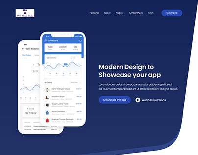 Siroon App Landing Page Redesign and Customized