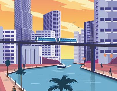 Airbnb Miami Poster