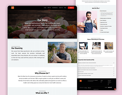 MeetTheMeat About Us Landing Page