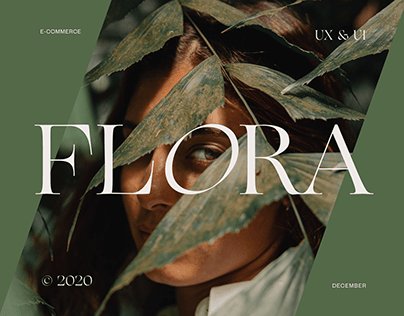 Flora online shop web-design | ux&ui