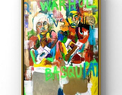 WARHOL VS Basquiat (frame)