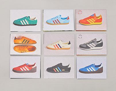 "adidas Originals ""Material Culture"" poster zines"