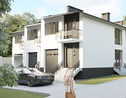 Townhouses visualization by AIR Studio