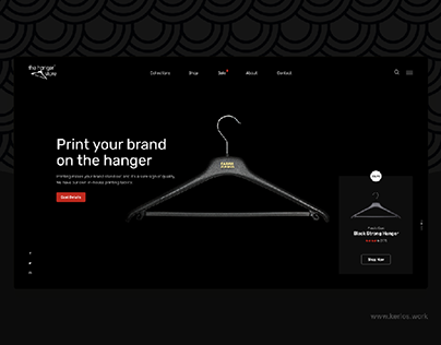 The Hanger Store - Landing Page