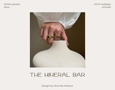 The mineral bar — jewelry store redesign concept