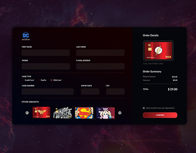 DAILY UI 2: CREDIT CARD CHECKOUT