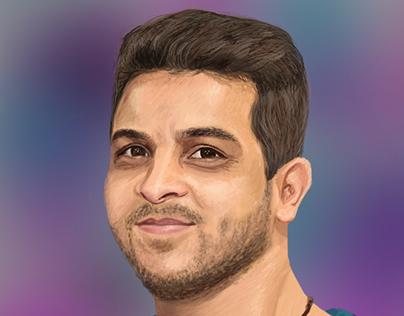 Mohamed Rashad  digital painting portret