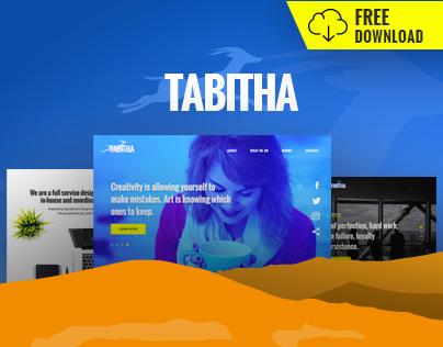 Tabitha - Free multipurpose website design PSD template