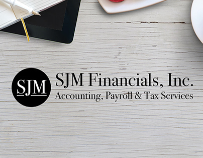 Logo and Home page design for SJM Financials, Inc.