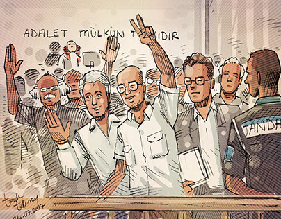 Cumhuriyet Gazetesi Mahkeme Çizimleri
