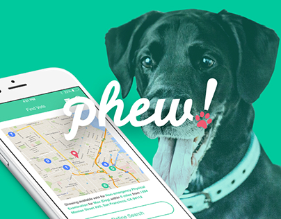 Phew! is iPhone app that connects pets and vets easily.