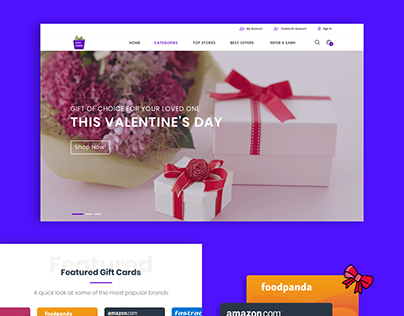 Website- Giftcard page
