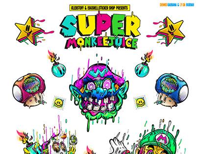 Super MonkeeJuice Stickerpack