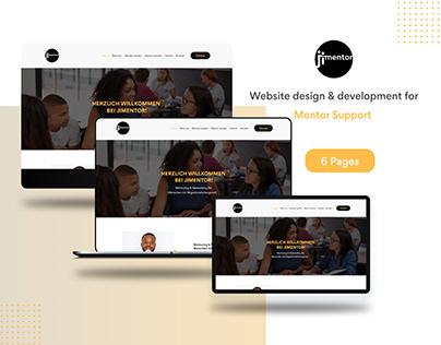 Jimentor Website UI Design and Development