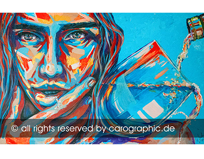 artwork acrylic popart portrait by carographic