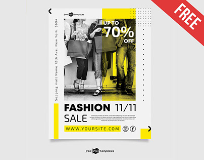 FREE FASHION SALE FLYER TEMPLATE IN PSD