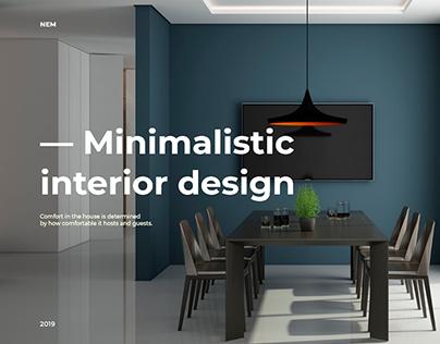 Concept website for interior design studio