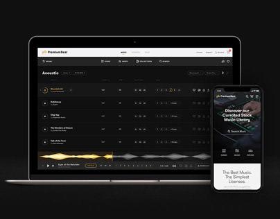 Design, UX/UI: PremiumBeat