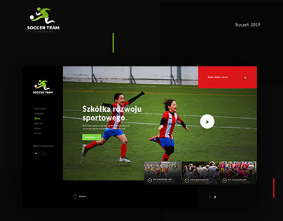 Web design - Soccer, football team