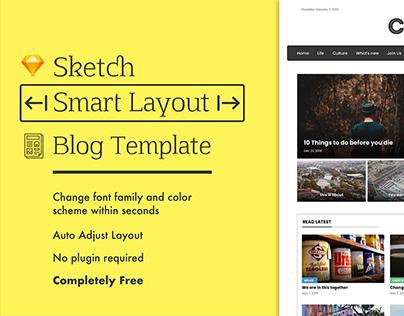 Blog UI. Free sketch template