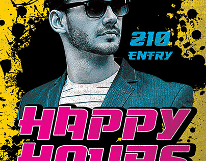 Happy Hours FREE Flyer PSD Template