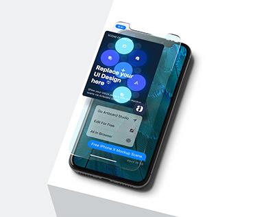 iPhone X UI Mockup Scene